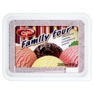 Eispro Family Four Chocolate, Vanilla, Strawberry and Punch Ice Cream 2000 ml