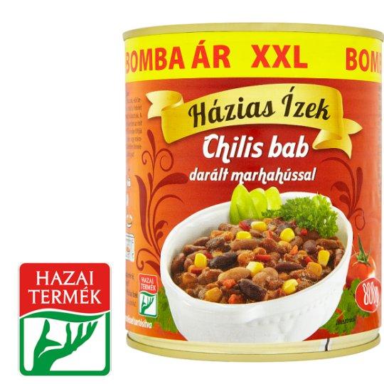Házias Ízek Chili Bean with Minced Beef 800 g