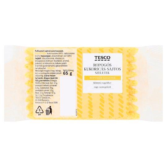Tesco ropogós kukoricás-sajtos szeletek 65 g