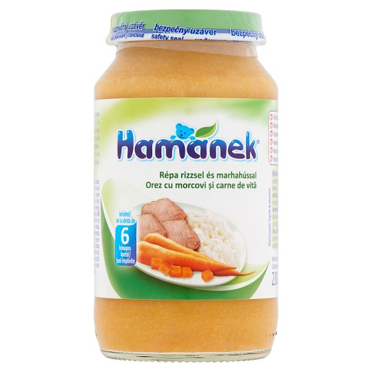 Hamánek Carrot with Rice and Beef Baby Food 6+ Months 230 g