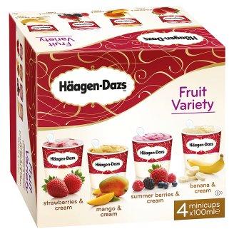Häagen-Dazs Fruit Variety Ice Cream 4 x 100 ml