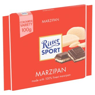 Ritter Sport Plain Chocolate with Marzipan Filling 100 g