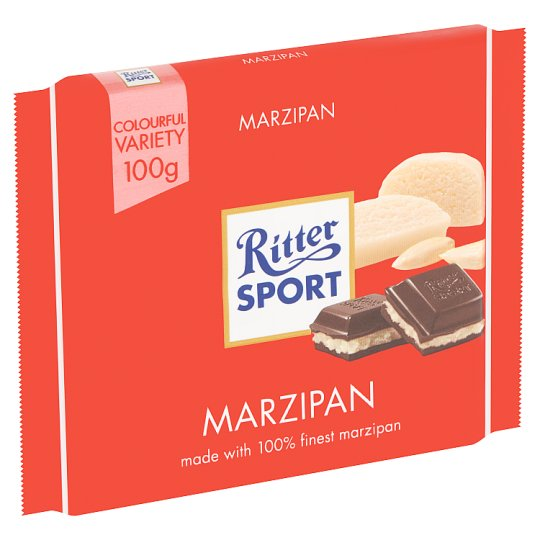 Ritter Sport Dark Chocolate With Marzipan 100 G Tesco Groceries