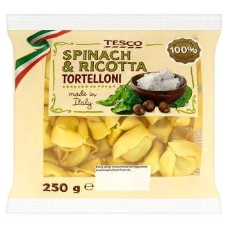 Tesco Tortelloni tojásos tészta ricotta sajtos, spenótos töltelékkel 250 g