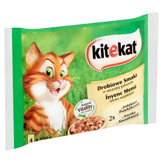 Kitekat Ínyenc Menü Complete Pet Food for Adult Cats with Turkey and Duck 4 x 100 g