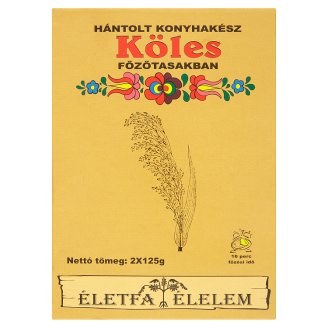 Életfa Élelem Hulled Millet in Cooking Bags 2 x 125 g