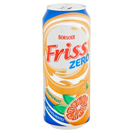 Borsodi Friss Zero Grapefruit Flavoured Non-Alcoholic Beer 0,5% 0,5 l