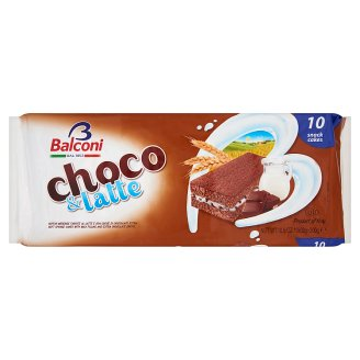 Balconi Choco & Latte Oven-Baked Milk Filled Confectionary Product with Chocolate Drops 10 pcs 300 g