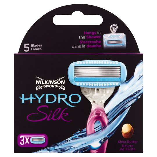 Wilkinson Sword Hydro Silk Razor Heads with 5 Blade 3 pcs