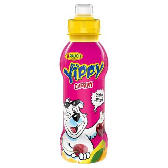 Rauch Yippy Cherry Multi Fruit Juice Drink with 5 Vitamins and Calcium 330 ml