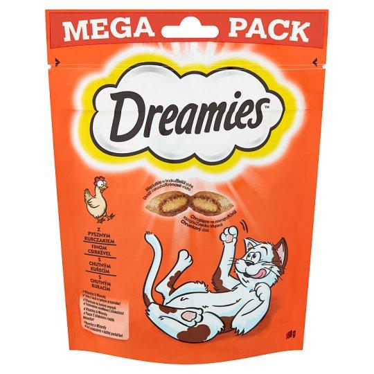 Dreamies kiegészítő táp macskáknak és 8 hetesnél idősebb kölyökmacskáknak csirkével 180 g