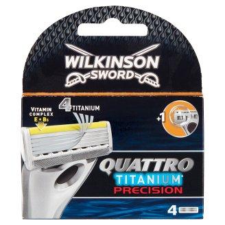 Wilkinson Sword Quattro Titanium Precision Razor Heads 4 pcs