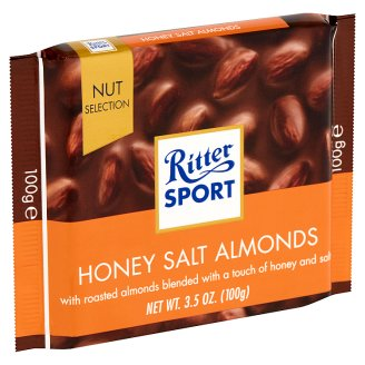 Ritter Sport Honey-Salt Flavoured Almonds in Milk Chocolate 100 g