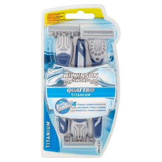Wilkinson Sword Quattro Titanium 4 Blade Disposable Razor 3 pcs
