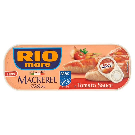 Rio Mare Mackerel Fillets in Tomato Sauce with Vegetables 169 g