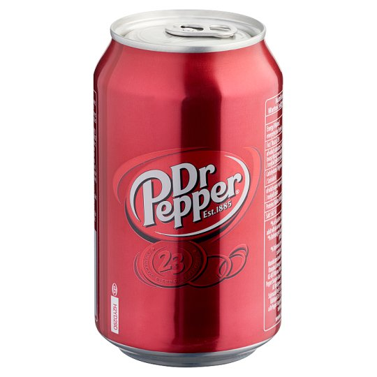 Dr Pepper Low-Energy Carbonated Soft Drink with Sugar and Sweeteners 330 ml