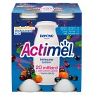 Danone Actimel Low-Fat Blackcurrant and Acai Flavoured Yoghurt Drink with Live Culture 4 x 100 g