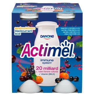 Danone Actimel zsírszegény, élőflórás, homoktövis-feketeribizli-acai bogyóízű joghurtital 4 x 100 g