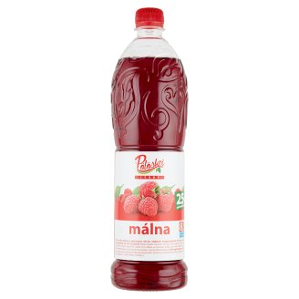 Pölöskei Raspberry Flavoured Syrup with Sugar and Sweetener 1 l