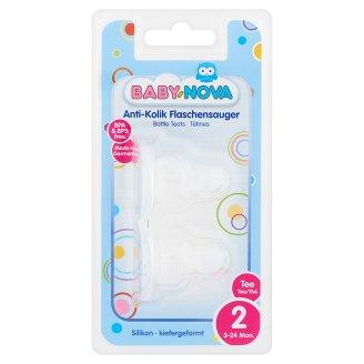 Baby-Nova Silicone Bottle Teats for Tea 3-24 Months 2 pcs