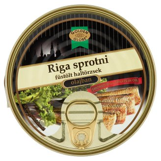 Golden Globe Smoked Riga Sprats in Oil 160 g