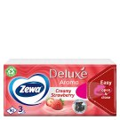Zewa Deluxe Creamy Strawberry Handkerchiefs 3 Ply 90 pcs