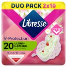 Libresse Ultra Normal Sanitary Pads with Wings and Aloe Vera Extract 2 x 10 pcs