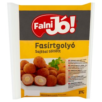 Falni Jó! Breaded, Ready-Fried, Quick-Frozen Cheese Filled Meatballs 375 g