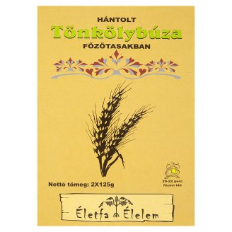 Életfa Élelem Hulled Spelt Wheat in Cooking Bags 2 x 125 g