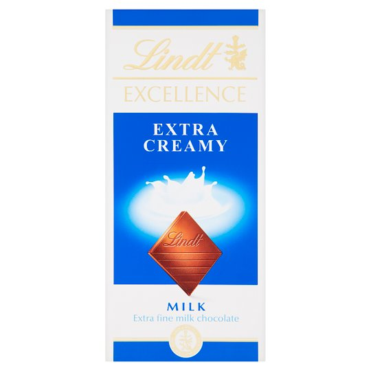 Lindt Excellence Extra Fine Milk Chocolate 100 g