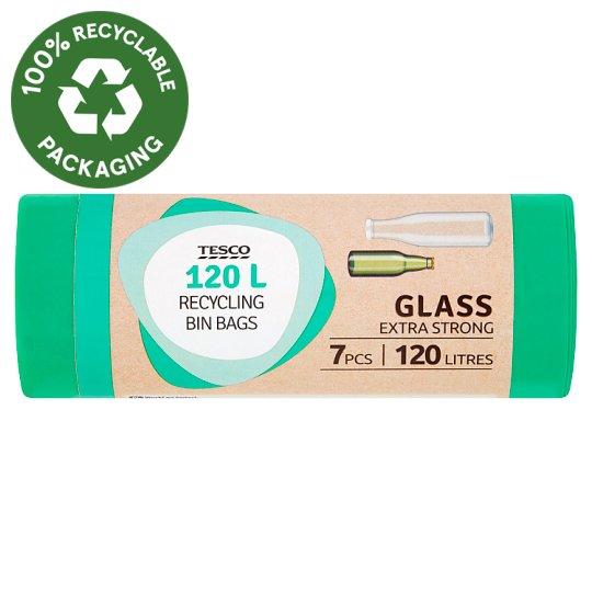 Tesco Glass Extra Strong Recycling Bin Bags 120 l 7 pcs