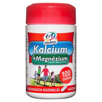 1x1 Vitaday Calcium+Magnesium Supplement Tablets 100 pcs 140 g