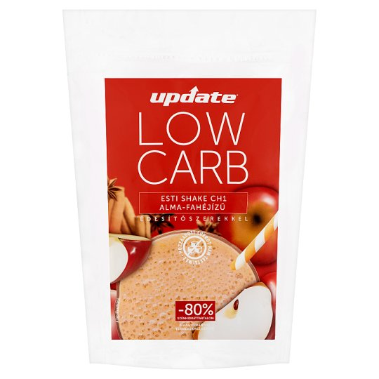 Update Low Carb Night Shake CH1 Apple and Cinnamon Flavoured Shake Powder with Sweeteners 280 g