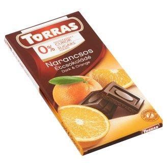 Torras Dark Chocolate with Orange and Sweetener 75 g