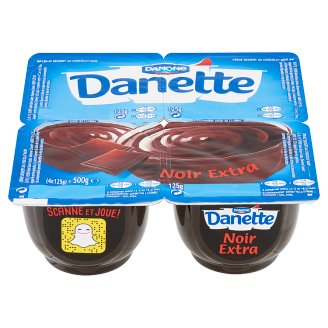 Danone Danette Noir Extra Chocolate Flavoured Pudding 4 x 125 g