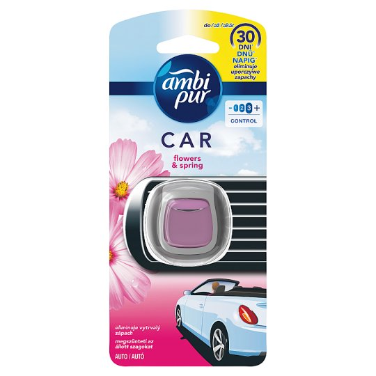 Ambi Pur Air Freshener Car Clip Flowers & Spring 1 Unit