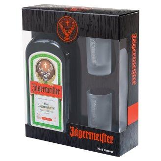 Jägermeister keserűlikőr két pohárral 35% 0,7 l