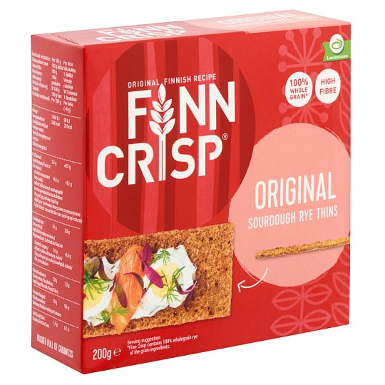 Finn Crisp vékony ropogós teljes kiőrlésű kenyér 200 g