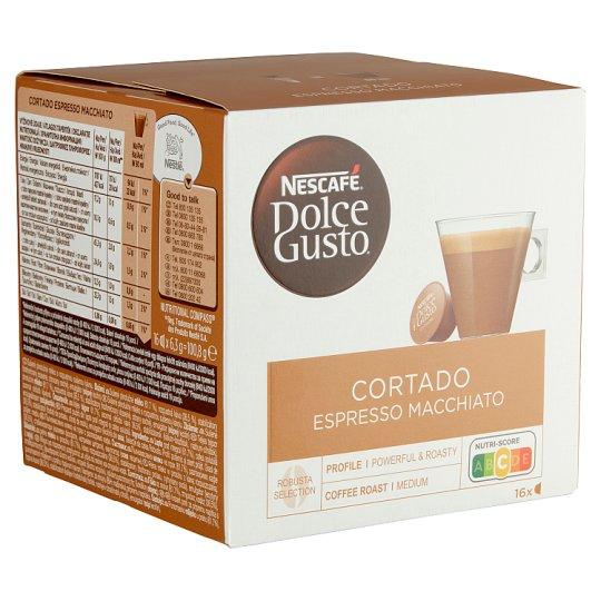Nescafé Dolce Gusto Cortado Espresso Macchiato tejpor azonnal oldodó kávéval 16 db 100,8 g