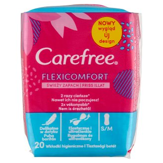 Carefree FlexiComfort Pantyliners with Fresh Scent 20 pcs