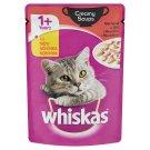 Whiskas 1+ teljes értékű állateledel felnőtt macskák számára marhával krémes szószban 85 g