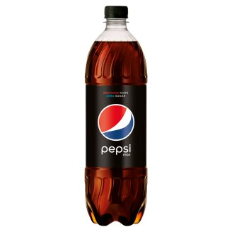 Pepsi Black Cola Flavoured Energy-Free Carbonated Drink with Sweeteners 1 l