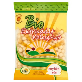 Bio Balls Organic Gluten-Free Extruded Slightly Salted Millet Balls 150 g