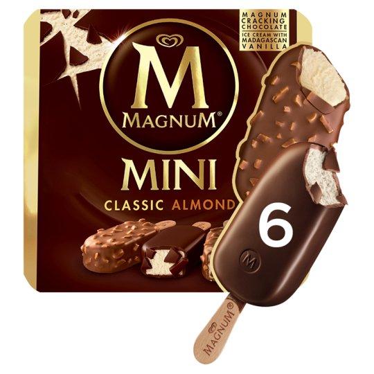 Magnum Mini Multipack Almond Ice Cream 6 x 55 ml