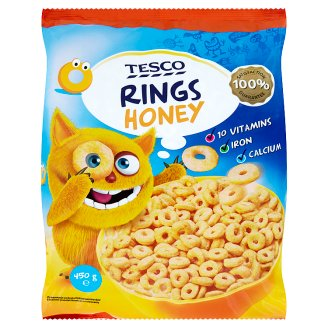Tesco Rings Honey 450 g