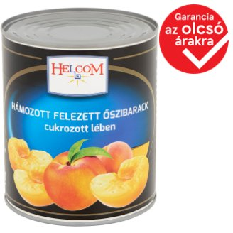 Helcom Peeled Halved Peaches in Slightly Sugared Syrup 820 g