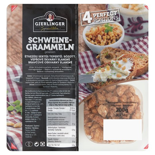 Gierlinger's Salted Greaves 4 x 50 g (200 g)