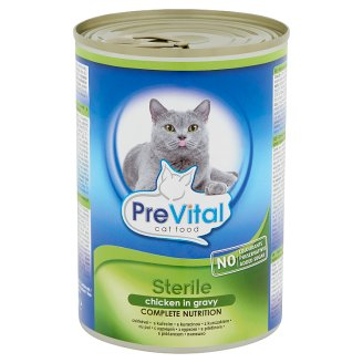 PreVital Complete Pet Food for Sterile Cats with Chicken in Gravy 415 g