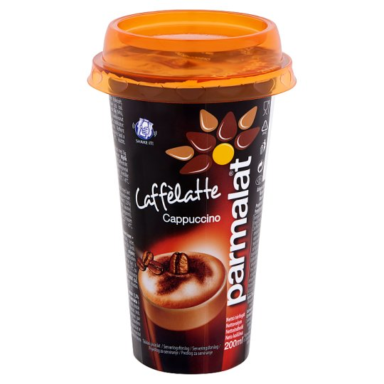Parmalat Caffèlatte Cappuccino UHT Low-Fat Coffee Flavoured Drink 200 ml