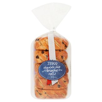 Tesco Brioche Rolls with Chocolate Chip 10 pcs 350 g